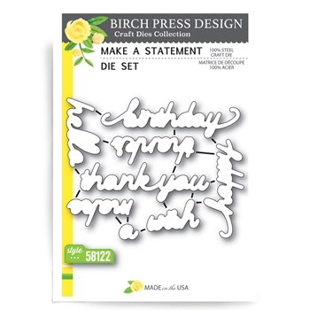 Birch Press Design MAKE A STATEMENT Craft Die 58122