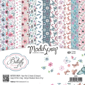Elizabeth Craft Designs BUTTERFLY DREAM ModaScrap 6x6 Paper BDPP6