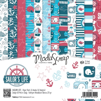 Elizabeth Craft Designs SAILORS LIFE ModaScrap 6x6 Paper SLFPP6