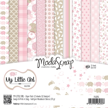 Elizabeth Craft Designs MY LITTLE GIRL ModaScrap 6x6 Paper MLGPP6