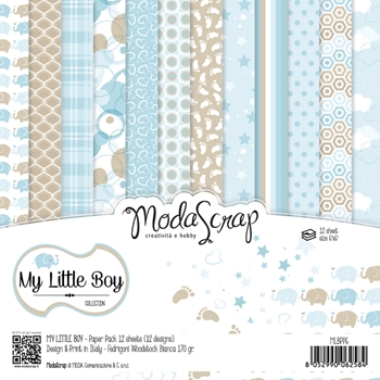 Elizabeth Craft Designs MY LITTLE BOY ModaScrap 6x6 Paper MLBPP6