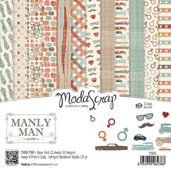 Elizabeth Craft Designs MANLY MAN ModaScrap 6x6 Paper MMPP6