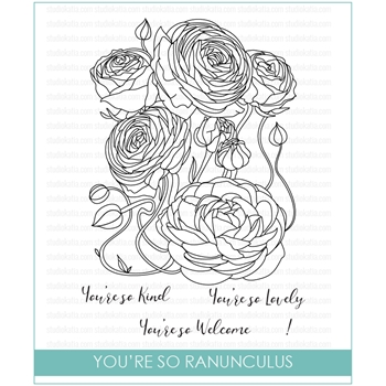 Studio Katia YOU'RE SO RANUNCULUS Clear Stamps STKS024