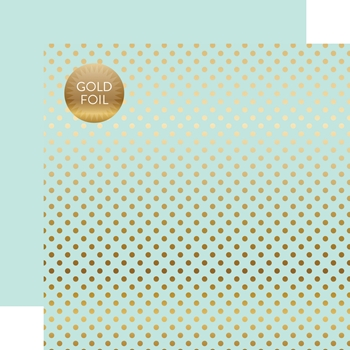 RESERVE Echo Park GOLD FOIL LIGHT MINT Dots Papers DS16006