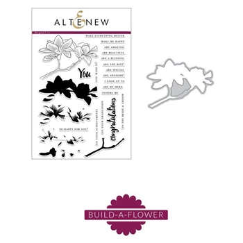 Altenew BUILD A FLOWER MAGNOLIA Clear Stamp and Die Set ALT5131