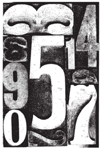 Tim Holtz Rubber Stamp BY THE NUMBERS V2-1108 *