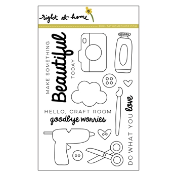 Right At Home MAKE SOMETHING BEAUTIFUL Clear Stamp 688722