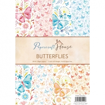 Papercraft House BUTTERFLIES A4 Paper Pack PH006