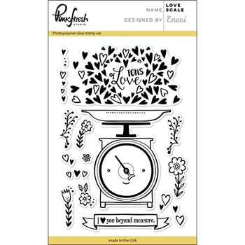 Pinkfresh Studio LOVE SCALE Clear Stamp Set PFCS2717