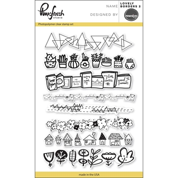 Pinkfresh Studio LOVELY BORDERS 2 Clear Stamp Set PFCS2817