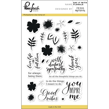 Pinkfresh Studio SAY IT WITH FLORALS Clear Stamp Set PFCS2517