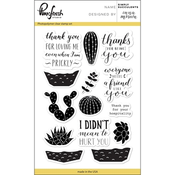 Pinkfresh Studio SIMPLY SUCCULENTS Clear Stamp Set PFCS2417