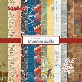 ScrapBerry's ADVENTURE AWAITS 6x6 Paper Pack 219243