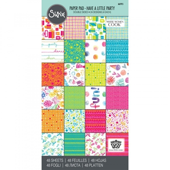 Sizzix HAVE A LITTLE PARTY 6x12 Cardstock Pad 661915