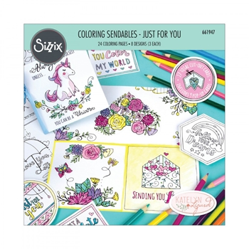 Sizzix JUST FOR YOU Coloring Sendables 661947