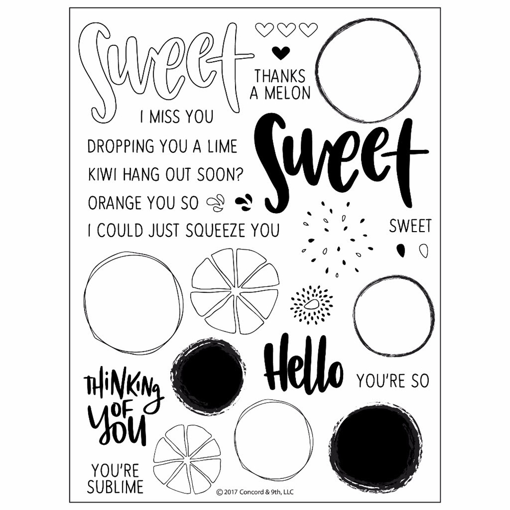 Concord & 9th ORANGE YOU SWEET Clear Stamp Set 10214C9 zoom image