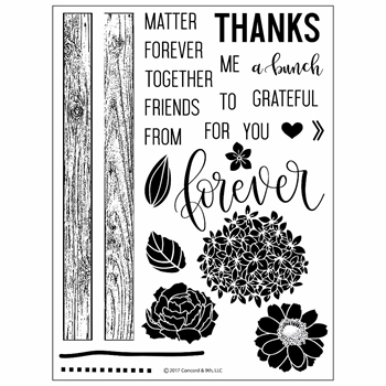 Concord & 9th PETALS & PALLETS Clear Stamp Set 10217C9
