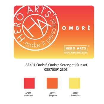 Hero Arts Ombre SERENGETI SUNSET Ink Pad AF401