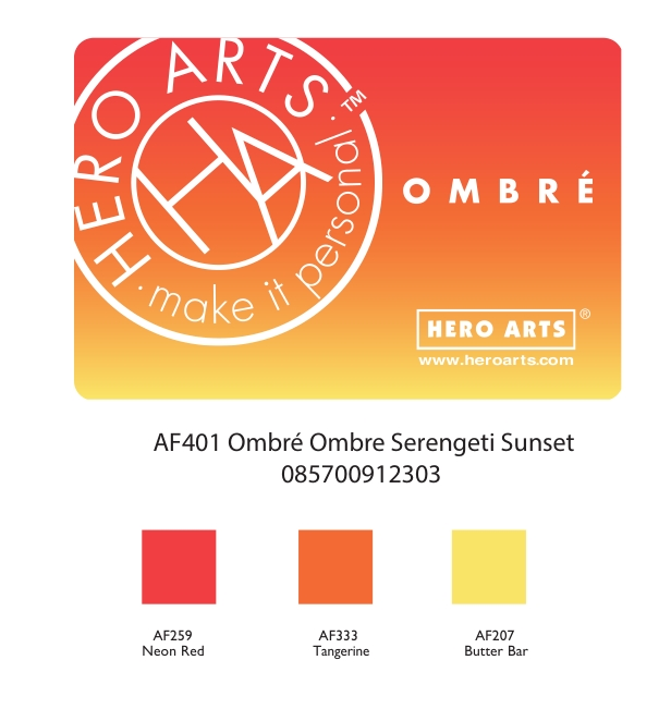 Hero Arts Ombre SERENGETI SUNSET Ink Pad AF401 zoom image