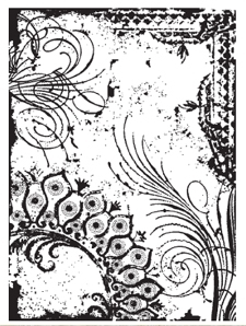 Tim Holtz Rubber Stamp FLOURISH COLLAGE Stampers Anonymous P4-1292