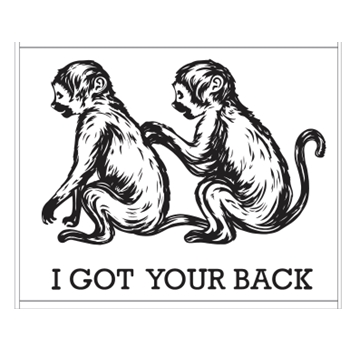 Hero Arts Rubber Stamp GOT YOUR BACK G6242