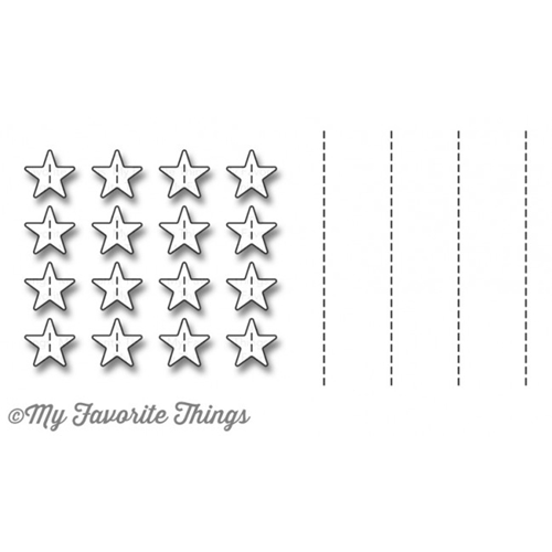 My Favorite Things STITCHED STAR GRID Die-Namics MFT1119 Preview Image