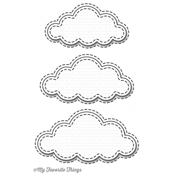My Favorite Things STITCHED CLOUDS Die-Namics MFT1129