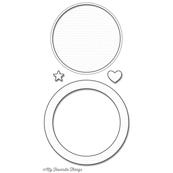 My Favorite Things CIRCLE SHAKER WINDOW AND FRAME Die-Namics MFT1099