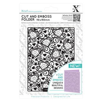 DoCrafts HEART PATTERN XCut Cut & Emboss Folder XC503805