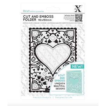 DoCrafts HEART FRAME XCut Cut & Emboss Folder XC503803