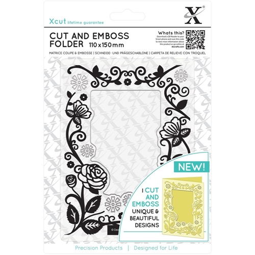 DoCrafts FLORAL FRAME XCut Cut & Emboss Folder XC503804 Preview Image