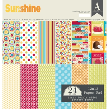 Authentique SUNSHINE 12 x 12 Paper Pad WCS007