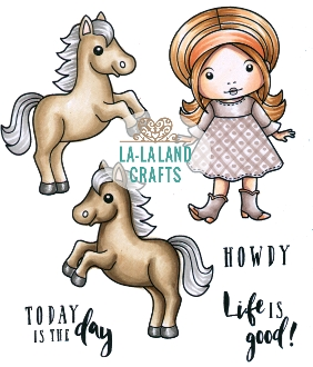 La-La Land Crafts Cling Stamp LIFE IS GOOD Set 5351