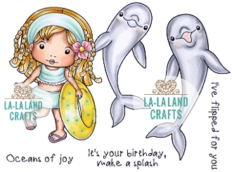 La-La Land Crafts Cling Stamp OCEANS OF JOY Set 5349
