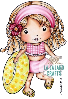 La-La Land Crafts Cling Stamp SUMMER VACATION MARCI Set 5348