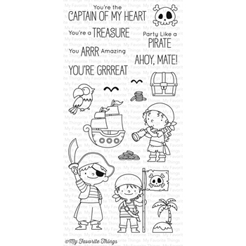My Favorite Things PARTY LIKE A PIRATE Clear Stamps BB46