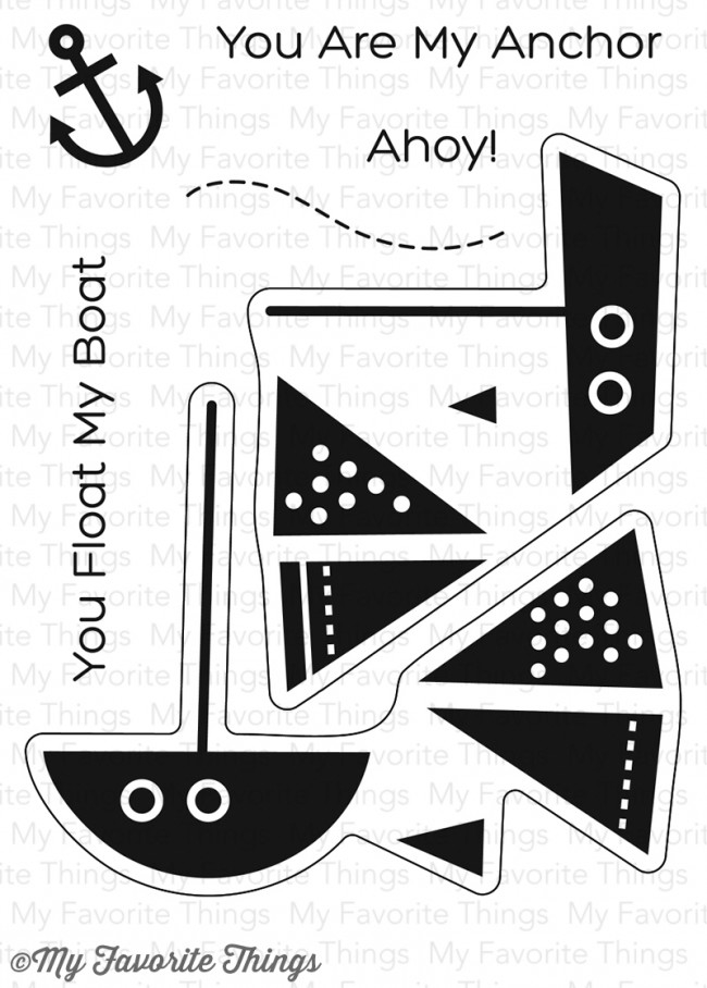 My Favorite Things YOU FLOAT MY BOAT Clear Stamps CS205 zoom image