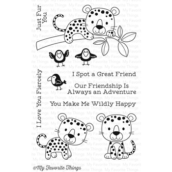 My Favorite Things LOVABLE LEOPARDS Clear Stamps CS203