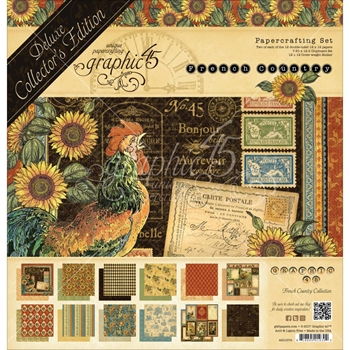 Graphic 45 FRENCH COUNTRY 12 x 12 Deluxe Collector's Edition 4501579