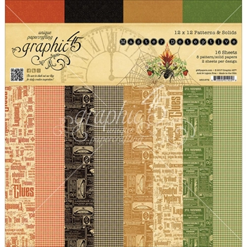 Graphic 45 MASTER DETECTIVE 12 x 12 Patterns & Solids Paper Pad 4501572