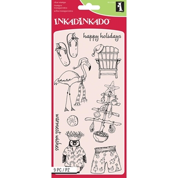 Inkadinkado WARMEST WISHES Clear Stamp Set 60-31350