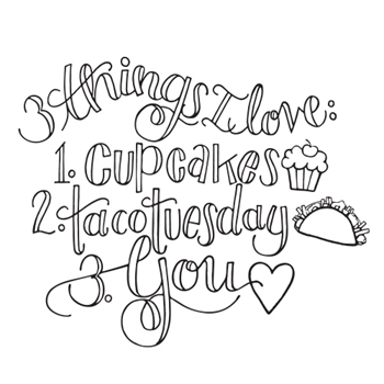 SBS-137 Spellbinders THINGS I LOVE Cling Stamp from the Happy Grams #3 by Tammy Tutterow