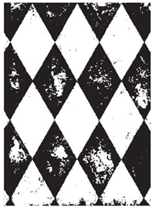 Tim Holtz Rubber Stamp HARLEQUIN v1-1129 Preview Image