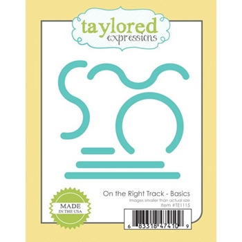 Taylored Expressions ON THE RIGHT TRACK BASIC DIES TE1115
