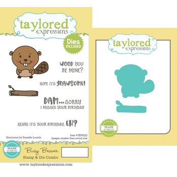 Taylored Expressions BUSY BEAVER Cling Stamp and Die Combo TEPS222