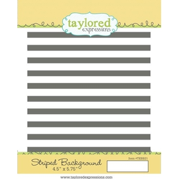Taylored Expressions STRIPED BACKGROUND Cling Stamp Set TEBB21
