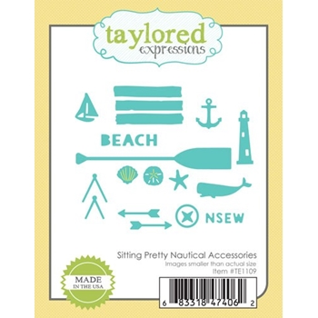 Taylored Expressions SITTING PRETTY NAUTICAL ACCESSORIES Die Set TE1109