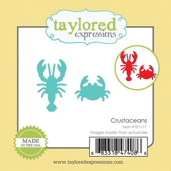 Taylored Expressions Little Bits CRUSTACEANS Die Set TE1111