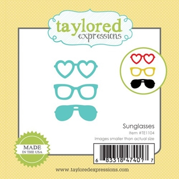 Taylored Expressions Little Bits SUNGLASSES Die Set TE1104