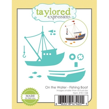 Taylored Expressions On The Water FISHING BOAT Die Set TE1108
